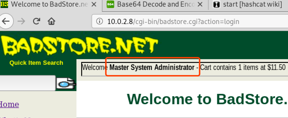 PENTEST | BADSTORE WEBSITE独狼 | Projects | 独狼 | Projects